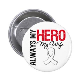 Lung & Bone Cancer - Always My Hero My Wife 6 Cm Round Badge