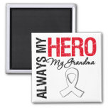 Lung Cancer - Always My Hero My Grandma Fridge Magnet