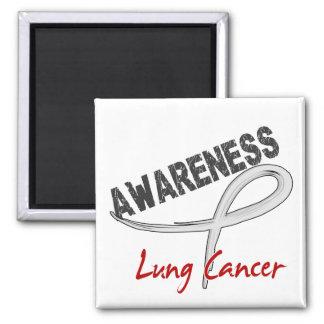 Lung Cancer Awareness 3 Fridge Magnets