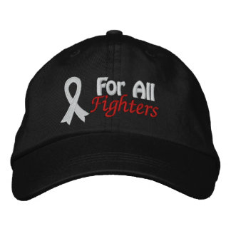 Lung Cancer Awareness For All Fighters Embroidered Hat