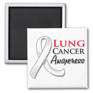 Lung Cancer Awareness Ribbon Refrigerator Magnets