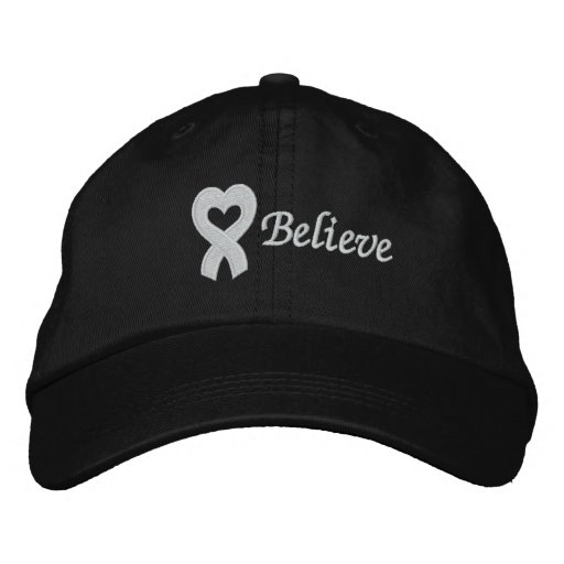 Lung Cancer Believe Embroidered Hat