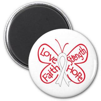 Lung Cancer Butterfly Inspiring Words Fridge Magnet