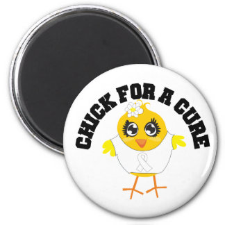 Lung Cancer Chick For A Cure Magnets