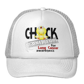Lung Cancer Chick Gone Pearl 2 Trucker Hat
