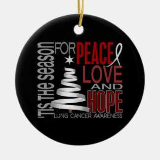 Lung Cancer Christmas 1 Ornaments