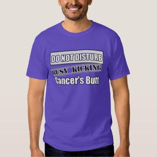 Lung Cancer Do Not Disturb Kicking Butt Shirts
