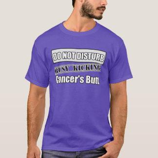 Lung Cancer Do Not Disturb Kicking Butt T-Shirt