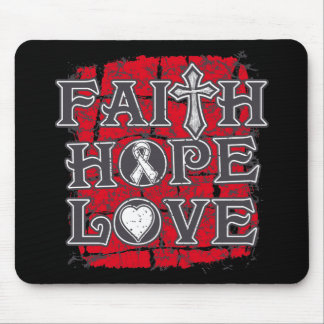 Lung Cancer Faith Hope Love Mouse Pads