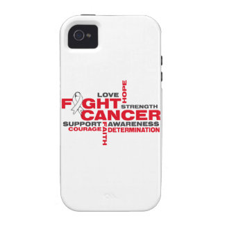 Lung Cancer Fight Collage Vibe iPhone 4 Cases