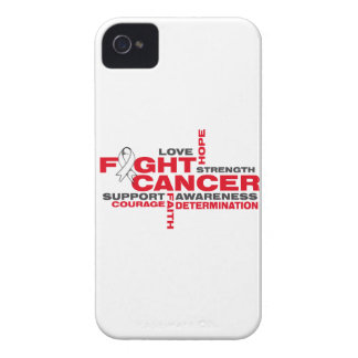 Lung Cancer Fight Collage iPhone 4 Cases