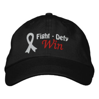 Lung Cancer Fight Defy Win Embroidered Baseball Cap
