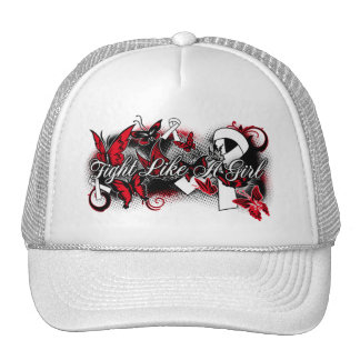 Lung Cancer Fight Like A Girl Grunge Butterfly Cap