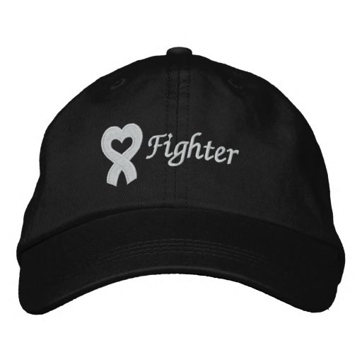 Lung Cancer Fighter Embroidered Baseball Caps