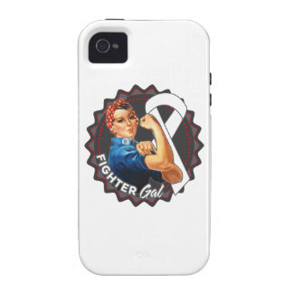 Lung Cancer Fighter Gal Vibe iPhone 4 Cover