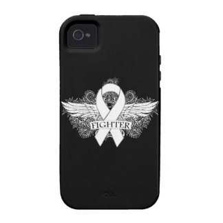 Lung Cancer Fighter Wings iPhone 4 Cases