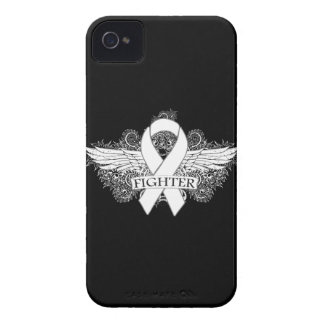 Lung Cancer Fighter Wings iPhone 4 Case-Mate Case