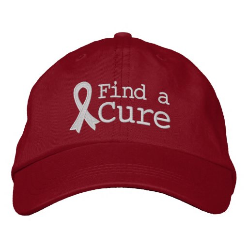 Lung Cancer Find a Cure Embroidered Baseball Cap