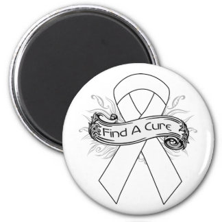 Lung Cancer Find A Cure Ribbon Fridge Magnet