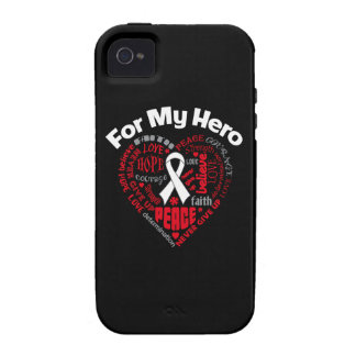 Lung Cancer For My Hero Vibe iPhone 4 Cases