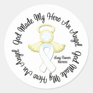Lung Cancer God Made My Hero An Angel Round Sticker