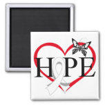 Lung Cancer Hope Butterfly Heart Décor Magnets