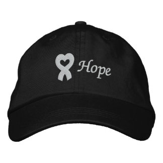 Lung Cancer Hope Embroidered Hats