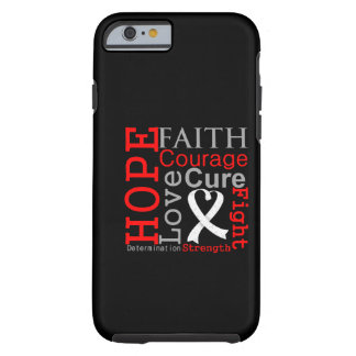 Lung Cancer Hope Faith Motto Tough iPhone 6 Case