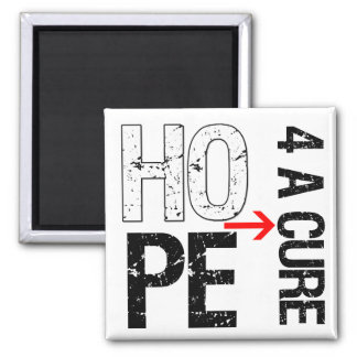 Lung Cancer Hope For a Cure Refrigerator Magnets