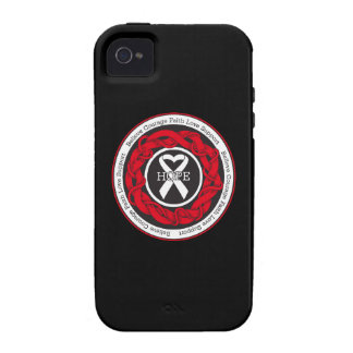 Lung Cancer Hope Intertwined Ribbon iPhone 4 Case