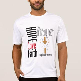 Lung Cancer Hope Love Faith Prayer Cross Tee Shirts