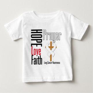 Lung Cancer Hope Love Faith Prayer Cross Tshirts