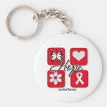 Lung Cancer Hope Love Inspire Awareness Key Chain