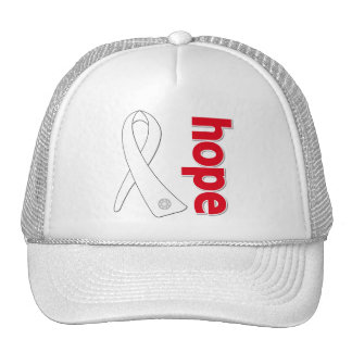 Lung Cancer Hope Ribbon Hats