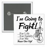 Lung Cancer I am Going To Fight 15 Cm Square Badge