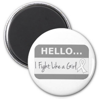 Lung Cancer I Fight Like a Girl Refrigerator Magnet