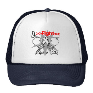 Lung Cancer I Fight Like a Girl With Gloves Cap