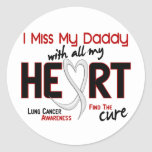 Lung Cancer I Miss My Daddy Round Stickers