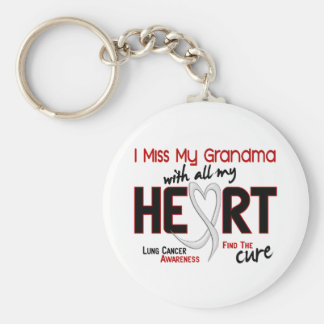 Lung Cancer I Miss My Grandma Basic Round Button Key Ring