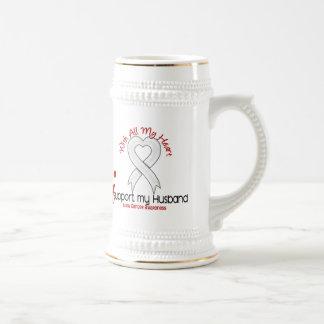 Lung Cancer I Support My Husband Mug