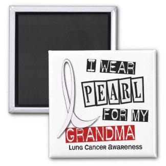Lung Cancer I WEAR PEARL 37 Grandma Magnet