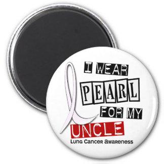Lung Cancer I WEAR PEARL 37 Uncle Fridge Magnet