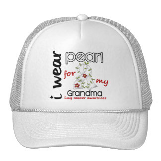 Lung Cancer I WEAR PEARL FOR MY GRANDMA 43 Cap