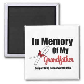 Lung Cancer In Memory of My Grandfather Fridge Magnets