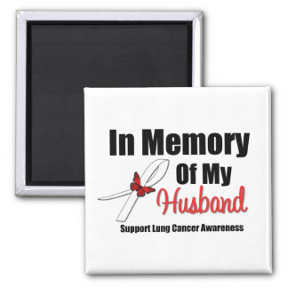 Lung Cancer In Memory of My Husband Refrigerator Magnets