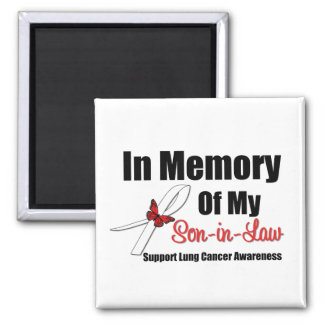 Lung Cancer In Memory Son-in-Law Square Magnet