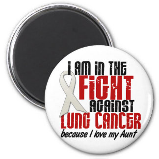 Lung Cancer IN THE FIGHT 1 Aunt 6 Cm Round Magnet