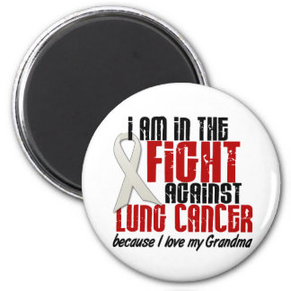Lung Cancer IN THE FIGHT 1 Grandma Refrigerator Magnet