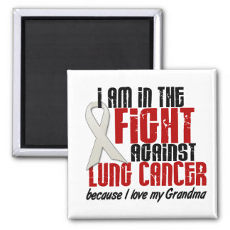 Lung Cancer IN THE FIGHT 1 Grandma Square Magnet
