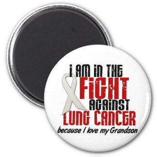 Lung Cancer IN THE FIGHT 1 Grandson 6 Cm Round Magnet